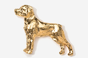 #460G - Rottweiler 24K Gold Plated Pin