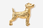 #461CG - Jack Russell 24K Gold Plated Pin