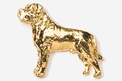 #463CG - Mastiff 24K Gold Plated Pin