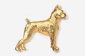 #463G - Boxer 24K Gold Plated Pin