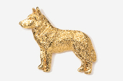 #464AG - Husky 24K Gold Plated Pin