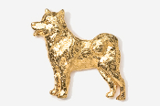 #464DG - Malamute 24K Gold Plated Pin