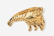 #528G - Spiny Lobster / Florida Lobster 24K Gold Plated Pin
