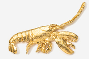 #529G - Side View Lobster 24K Gold Plated Pin
