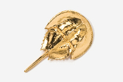 #533G - Horseshoe Crab 24K Gold Plated Pin