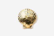 #541G - Scallop 24K Gold Plated Pin