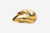 #543G - Mussel 24K Gold Plated Pin