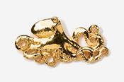 #551G - Octopus 24K Gold Plated Pin