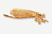 #569AG - Damselfly 24K Gold Plated Pin