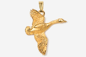 #P320G - Flying Canada Goose 24K Gold Plated Pendant