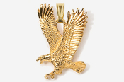 #P333G - Left Flying Eagle 24K Gold Plated Pendant