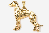 #P453AG - Greyhound 24K Gold Plated Pendant