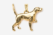 #P456G - English Pointer 24K Gold Plated Pendant