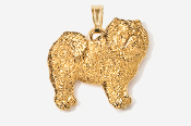 #P464G - Chow 24K Gold Plated Pendant