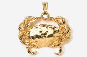 #P531AG - Dungeness Crab 24K Gold Plated Pendant