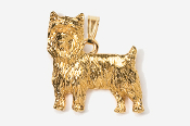 #P850AG - Pet Clip Yorkie 24K Gold Plated Pendant