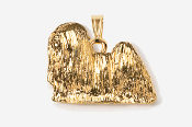 #P857G - Lhasa Apso 24K Gold Plated Pendant