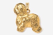 #P868G - Old English Sheep Dog 24K Gold Plated Pendant