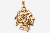 #P920G - Native American 24K Gold Plated Pendant