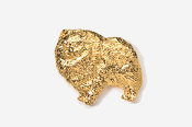 #851G - Pomeranian 24K Gold Plated Pin