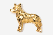 #858G - Australian Cattle Dog / Blue Heeler 24K Gold Plated Pin