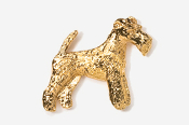 #859AG - Wire Fox Terrier 24K Gold Plated Pin