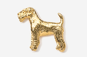 #859G - Airedale 24K Gold Plated Pin