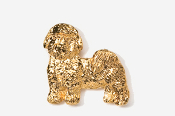 #862AG - Pet Clip Shih Tzu 24K Gold Plated Pin