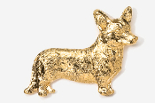 #866AG - Cardigan Welsh Corgi 24K Gold Plated Pin