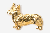 #866G - Pembroke Corgi 24K Gold Plated Pin