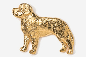 #871AG - Saint Bernard 24K Gold Plated Pin
