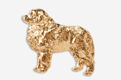 #872AG - Great Pyrenees 24K Gold Plated Pin