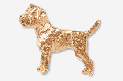 #877BG - Border Terrier 24K Gold Plated Pin