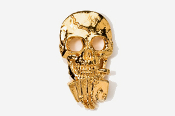 #804G - Poker Playing Skull 24K Gold Plated Pin