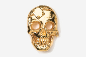 #805G - Metal Plate Skull 24K Gold Plated Pin
