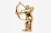 #903AG - Traditional Bow Hunter 24K Gold Plated Pin