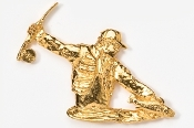 #910G - Fly Fisherman 24K Gold Plated Pin