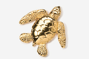 #607G - Sea Turtle 24K Gold Plated Pin