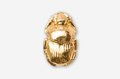 #580G - Scarab / Dung Beetle 24K Gold Plated Pin