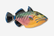 #272P - Triggerfish Hand Painted Pin