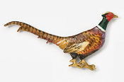 #301AP - Walking Pheasant Hand Painted Pin