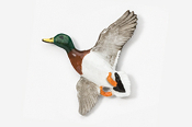 #321P - Flying Mallard Hand Painted Pin