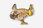 #325P - Prairie Chicken Hand Painted Pin