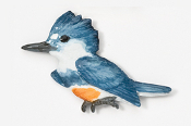 #340P - Kingfisher Hand Painted Pin