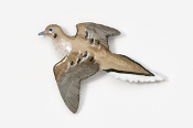 #351P - Dove Hand Painted Pin