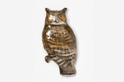 #360P - Great Horned Owl Hand Painted Pin