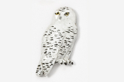 #361P - Snowy Owl Hand Painted Pin