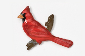 #370P - Cardinal Hand Painted Pin