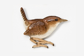 #373P - Wren Hand Painted Pin