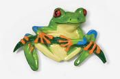 #592P - Front Facing Tree Frog Hand Painted Pin